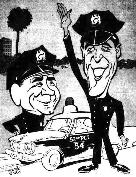 1960s newspaper drawing.